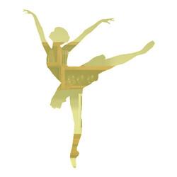 cd601b59a4 Recorte Bailarina   Acrílico 2mm Espelhado Dourado   6