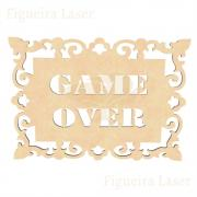 Placa Vazada Game Over MDF 3 mm